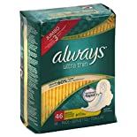 Always Pads, Ultra Thin, Flexi-Wings, Regular, Jumbo, 46 pads