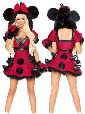 Rebel Mouse Sexy Minnie Mouse Costume Dress - SMALL/MEDIUM