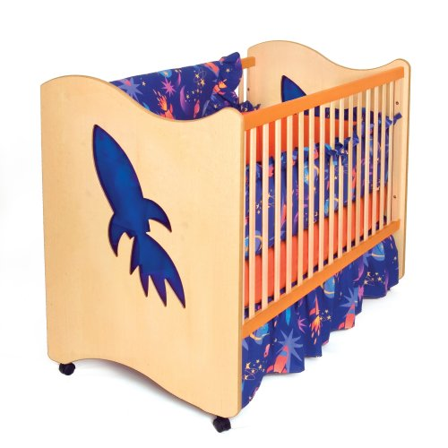 Room Magic 3 Piece Crib Set, Star Rocket