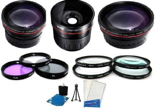58Mm Fisheye All In Lens Kit Includes 0.21X Super Wide Angle Fisheye Lens + .43X Wide Angle Lens + 2.2X Telephoto Lens + 3 Pc Filter Kit (Uv, Cpl, Fld) + Close Up Kit +1 +2 +4 +10 + Digi Mini Tripod + Screen Protectors + Camera Cleaning Kit + For Fuji Fuj