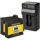 2x Patona Akku für GoPro Hero4 AHDBT-401 (1160mAh) + Patona Ladegerät 4 in 1 -- NEUHEIT mit USB und Micro-USB Netz und Kfz. Eingang -- passend zu -- GoPro Hero4 (..alle Editionen)
