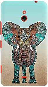 lumia 1320 back case cover ,Boho Summer Elephant Designer lumia 1320 hard back case cover. Slim light weight polycarbonate case with [ 3 Years WARRANTY ] Protects from scratch and Bumps & Drops.