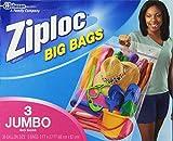 Ziploc BIG BAG JUMBO ジップロック ビッグバッグ(60cm x 82cm) 3枚入り [並行輸入品]