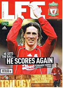 LFC Liverpool football magazine No 295 Apr 2008 inc STEVEN GERRARD poster