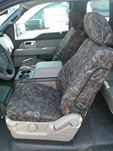 Exact Seat Covers, FD58 CL, 2010 Ford F150 Crew Cab Front and Back Seat Set Custom Exact Fit Seat Covers, Conceal Camo Velour