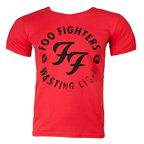 T Shirt Dei Foo Fighters Wasting Light (Rosso) - X-Large