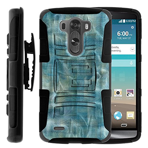 Click to buy LG G3 Phone Case, LG G3 Belt Clip, Dual Layer Hybrid Armor Hard Cover with Built in Kickstand and Exclusive Illustrations for LG G3 D850, VS985, D851, LS990, US990 (AT&T, T Mobile, Verizon, Sprint, US Cellular) from MINITURTLE | Includes Screen Protector  - From only $10.49