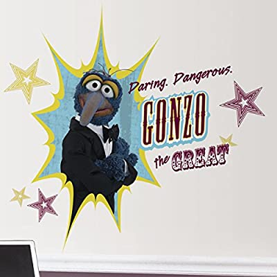 Roommates Rmk1811Gm Muppets Gonzo Peel And Stick Giant Wall Decal