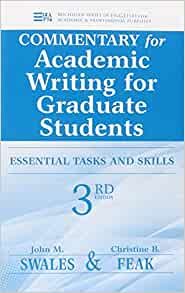 Academic writing for graduate students swales and feak