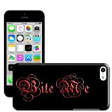 Fancy A Snuggle 'Bite Me Vampire Blood Gothic Writing' Hard Case Clip On Back Cover for Apple iPhone 5C