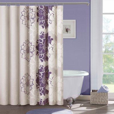 Lola Cotton Shower Curtain Color: Purple front-811684
