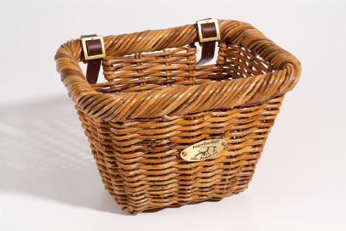 Nantucket Bike Basket Cisco Basket Rectangular Lt. Brown