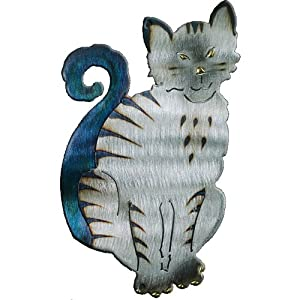 Sitting Cat Design Metal Wall Art by Richard Pell Creative Metalwork