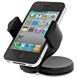 MOBiXi Black 360 Car Windscreen / Windshield Dashboard Suction Mount Dock Cradle Holder Universal For LG KC550