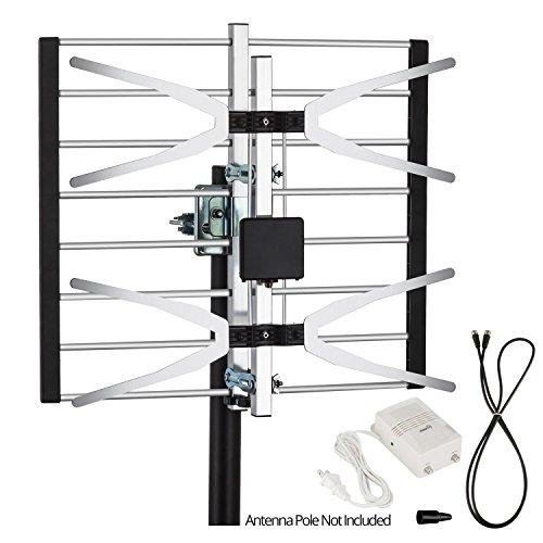 ViewTV VT-0958A Digital Amplified Outdoor / Indoor Attic HDTV Antenna - 120 Miles Range (Can Antenna compare prices)