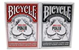 Bicycle World Series of Poker (WSOP) Cards - 2 Decks 1 Red 1 Black