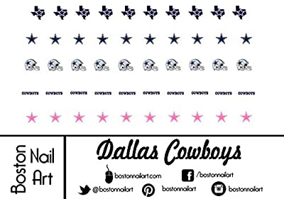 NFL - Dallas Cowboys Waterslide Nail Decals - 50pc