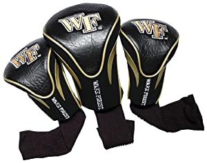 Click here to buy NCAA Wake Forest Demon Deacons 3 Pack Contour Golf Club Headcover by Team Golf.