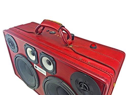 Rare Dark Red Maroon Hartmann Vintage Stereo Bluetooth Suitcase Boombox