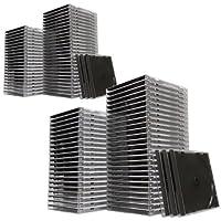 サンワダイレクト CD・DVDケース ブラック 10mm プラケース 収納ケース 100枚セット 200-FCD024-100BK