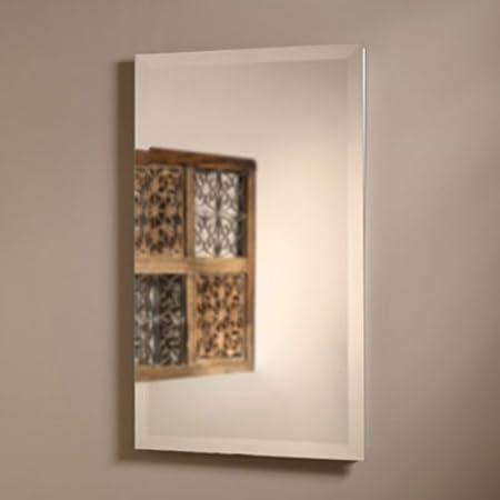 Jensen Medicine Cabinet Perfect Square 16W x 26H in. Recessed Beveled Mirror Medicine Cabinet 823P24WH