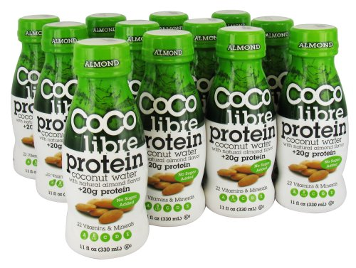 Coco Libre - Protein Coconut Water Natural Almond Flavor - 11 Oz.