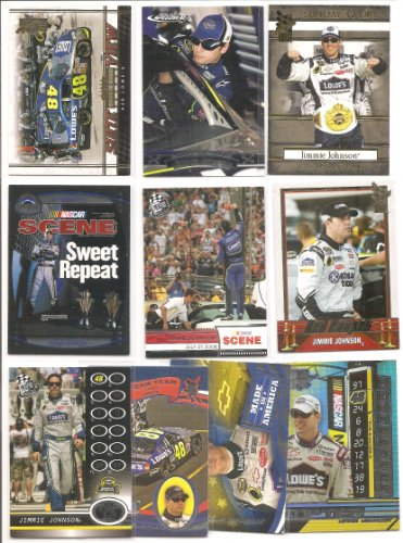 Jimmie Johnson . . . . NASCAR Star and 5 - Time Cup Champion . . . 10 Card Lot . . ....