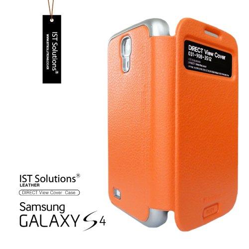 2点セット GALAXY S4 IST DIRECT S VIEW ダイアリー デザイン フリップ カバー ケース カード 収納機能 ( Suica Pasmo Edy ) ワンセグ対応 ワンセグアンテナ対応 ( docomo Galaxy S4 SC-04E / Samsung Galaxy S IV 2013年モデル 対応 ) Standing View Cover for Galaxy S4 i9500 ビュー ケース NTT ドコモ ギャラクシー エスフォー ケース  ドコモ カバー 衝撃保護 ジャケット Flip Cover Case + 液晶保護フィルム1枚 (プレゼント)  Stylish Orenge ( 橙 橙色 オレンジ )  1306146