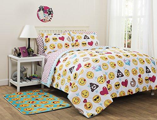 Emoji Pals Reversible Bed in a Bag Comforter Set, Full (Reversible Comforter Full compare prices)