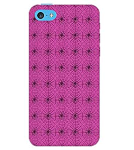 PrintDhaba SPIDER PATTERN D-6717 Back Case Cover for APPLE IPHONE 5C (Multi-Coloured)
