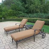 Oakland Living Belmont 3-Piece Chaise Lounge Set with Sunbrella Cushions