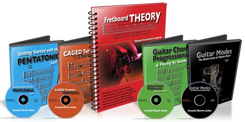 Fretboard Theory Book and 4 DVD Bundle 25% Off Desi Serna
