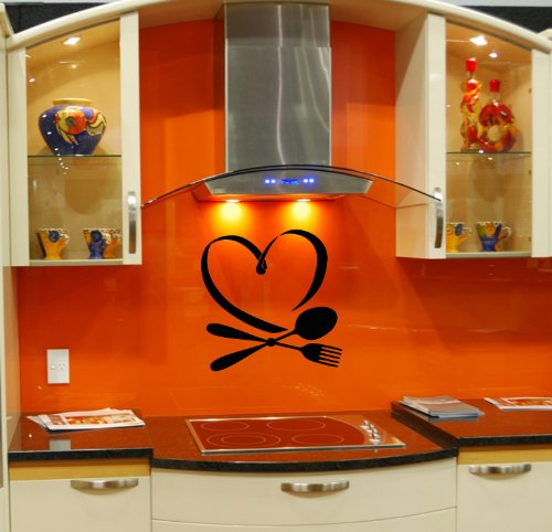 Wall Vinyl Sticker Decal Art Design Spoon And Fork Room Nice Picture Decor Hall Wall Chu544