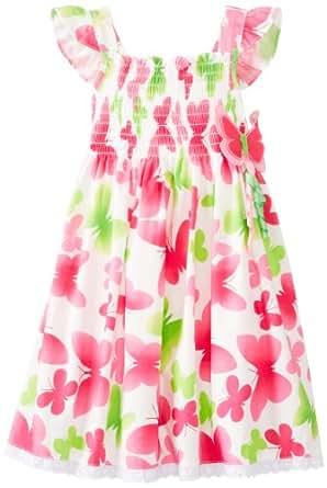 Good Lad Little Girls' Butterfly Print Sundress, Pink, 4