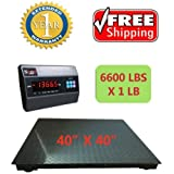 """SAGA NEW 6600LB x 1LB , 4 x 4 40"""" DIGITAL PALLET SHIPPING PLATFORM FLOOR SCALE W/INDICATOR, $35 OFF Discount BRAND NEW PALLET SCALE-- Limit Time Offer"""