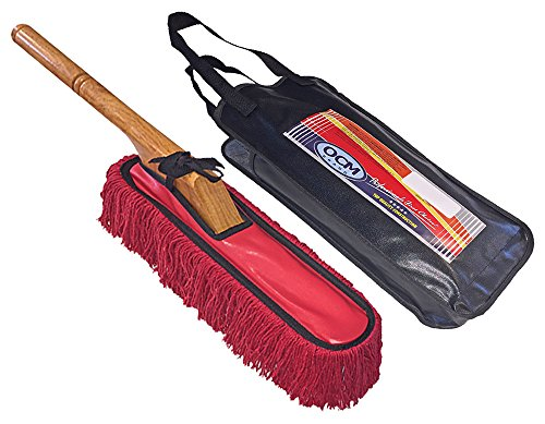 Classic Car Duster with Solid Wood Handle includes Storage Case - Popular Detailers Choice (Auto Duster compare prices)
