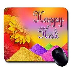 Awwsme Happy Holi Beautiful Design -2 Mousepad