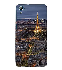 Vizagbeats paris with eiffel tower Back Case Cover for HTC Desire 826::HTC Desire 826 Dual