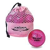 公認球 高反発ソフトコア 2ピース構造ゴルフボール 12球(1ダース) メッシュバック入り ピーチメタル T-MMP