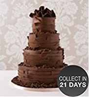 Milk Chocolate Ribbons Wedding Cake