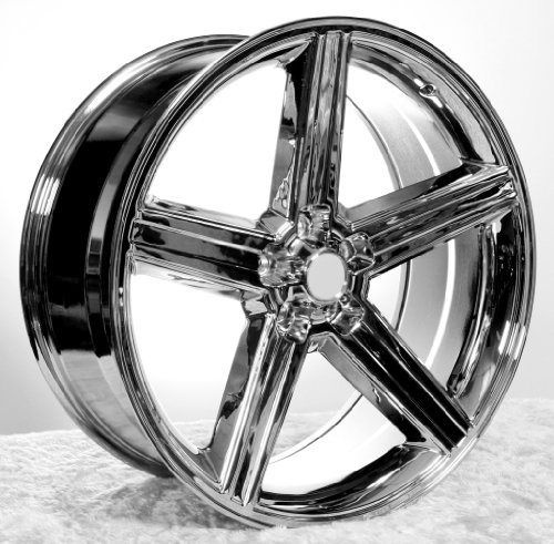 51pqp9OtnbL 26 Iroc Chrome Wheels & Tires Pkg Fits On 5Lug Chevy Truck,