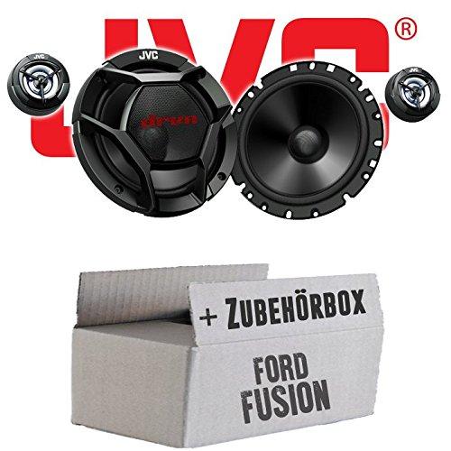 Ford Fusion Front Heck - JVC CS-DR1700C - 16cm 2-Wege Lautsprecher System - Einbauset