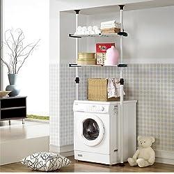 Double Adjustable Laundry Shelf   Clothing Rack