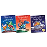 Claire Freedman Aliens Love Underpants Trio, 3 books, RRP £18.97 (Aliens in Underpants Save the World; Aliens Love Underpants; Dinosaurs Love Underpants).