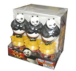 Ausome Candy Kung Fu Panda Theme Giga Bites Candy Container and Toy (Pack of 12)