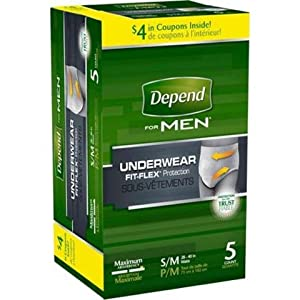 Depend For Men Underwear, Maximum Absorbency, 120-Count Packaging May Vary, Depend-gj by Depend