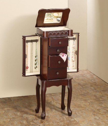 Dark Wood Jewelry Armoire front-1033507