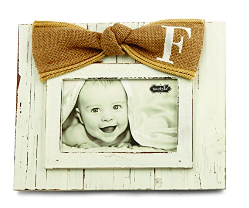 Mud Pie Planked Monogram Bow Frame, F