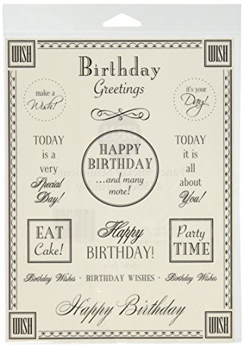 Fancy Sticker Sentiment Birthday