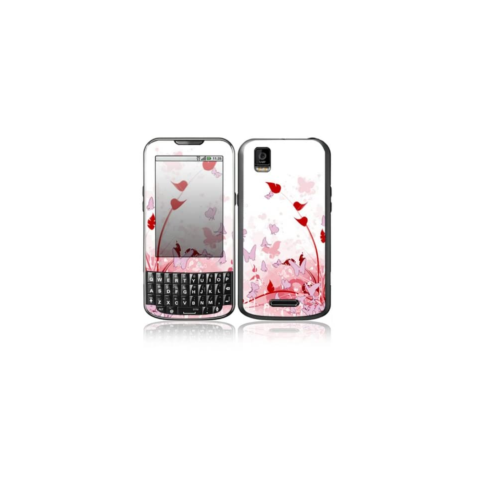 Pink Butterfly Fantasy Design Decorative Skin Cover Decal Sticker for Motorola Droid XPRT Cell Phone